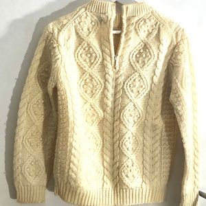 Hand loomed ribbed sweater